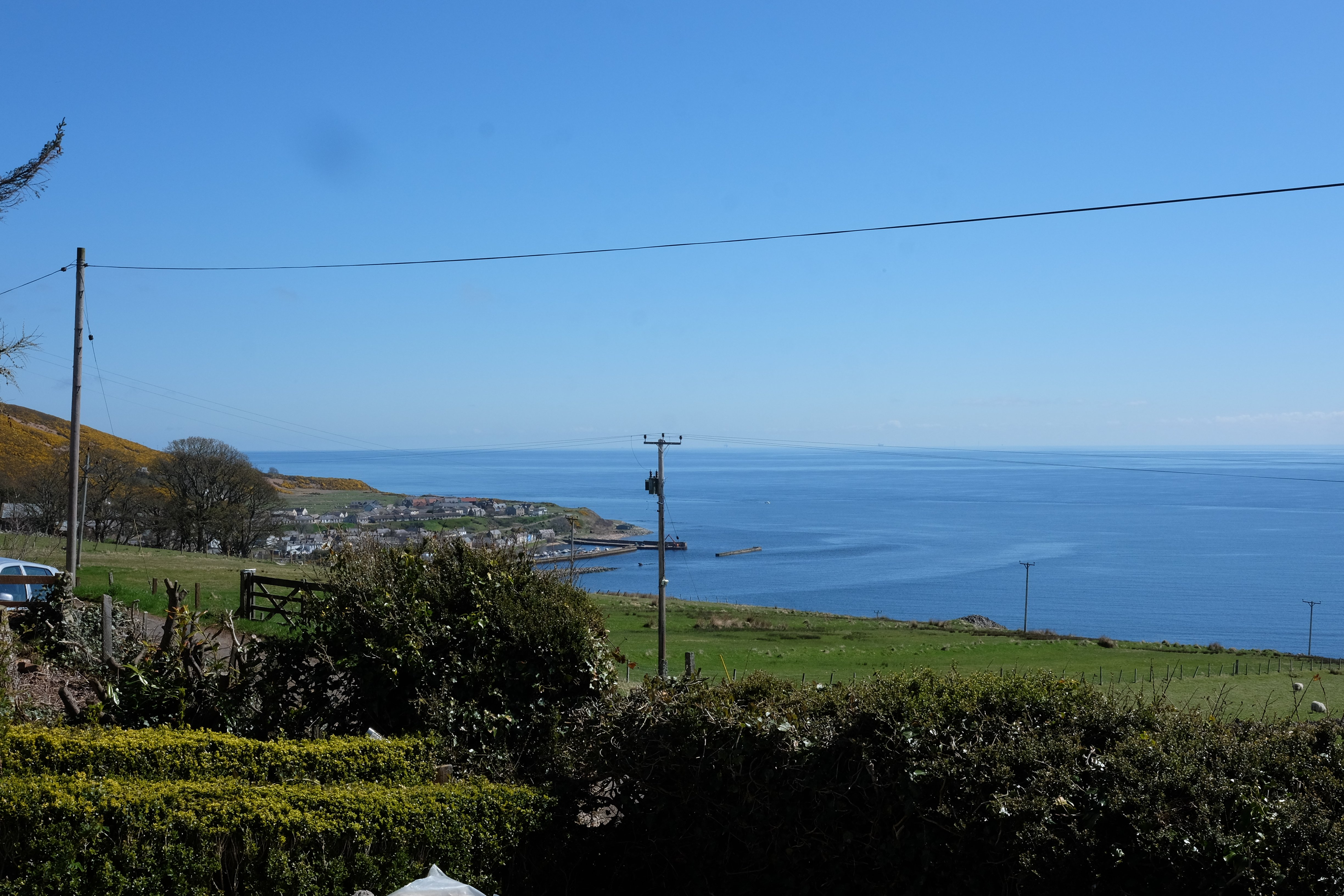 View Towards Helmsdale from the Yurt